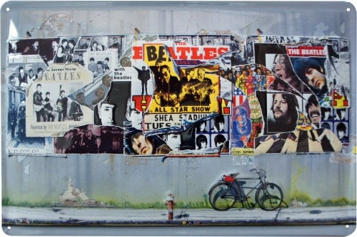 BEATLES-Blechschild THE BEATLES 1995 ANTHOLOGY COVER WORK