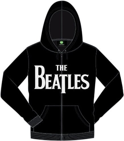BEATLES-Jacke mit Kaputze LETTERING THE BEATLES WHITE ON BLACK