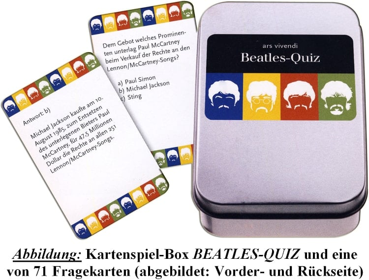 deutsches BEATLES-Kartenspiel THE BEATLES-QUIZ