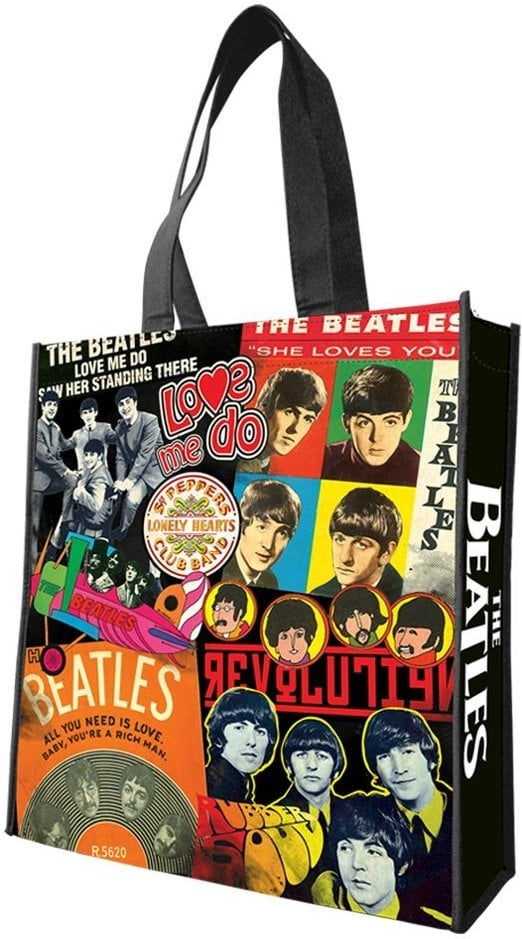 BEATLES-Shopperbag THROUGH THE BEATLES YEARS COVERS AND LOGOS