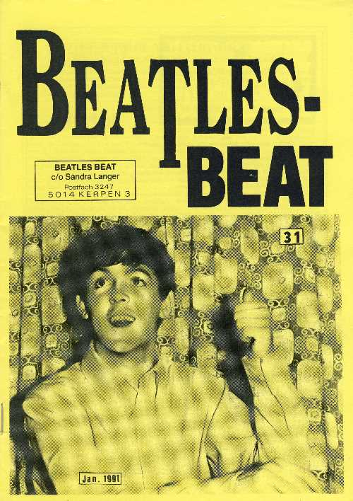 Deutsches Heft BEATLES-BEAT 31