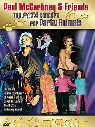 PAUL McCARTNEY und andere: DVD THE PETA CONCERT FOR PARTY ANIMAL