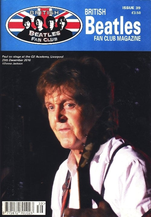 Fanmagazin BRITISH BEATLES FAN CLUB MAGAZINE - ISSUE 39
