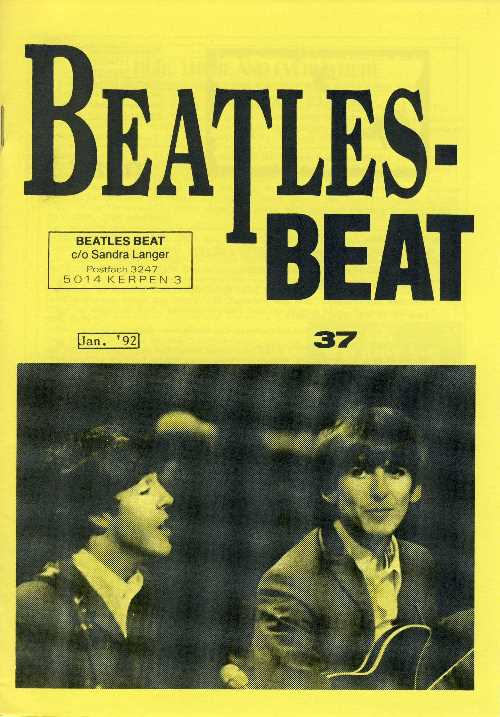 Deutsches Heft BEATLES-BEAT 37