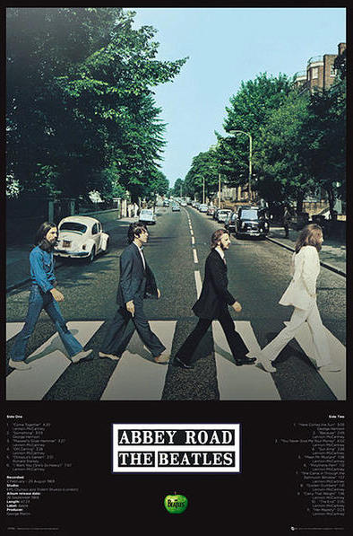 BEATLES-Poster ABBEY ROAD TRACKS