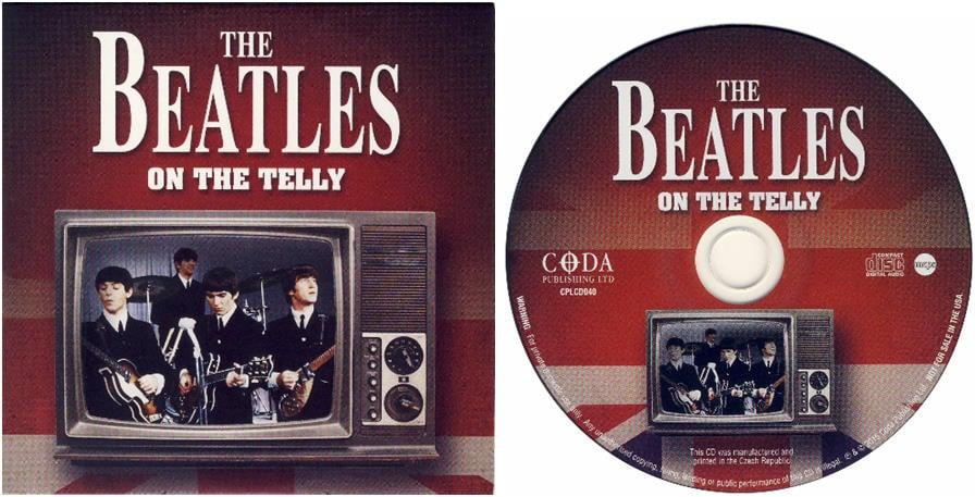 BEATLES: CD (card sleeve) THE BEATLES ON THE TELLY - BLACKPOOL &