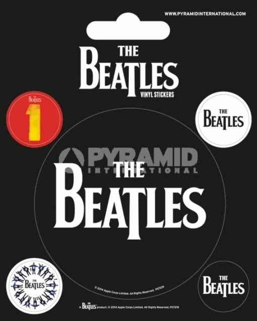 BEATLES-Aufkleber-Set THE BEATLES LETTERING