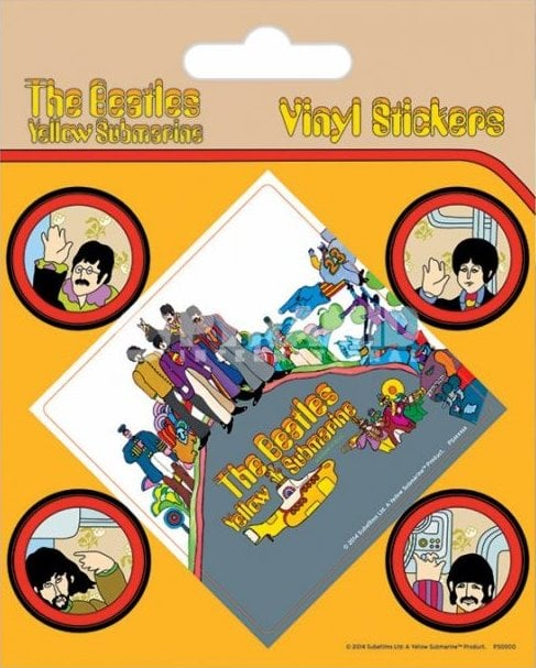 BEATLES-Aufkleber-Set YELLOW SUBMARINE