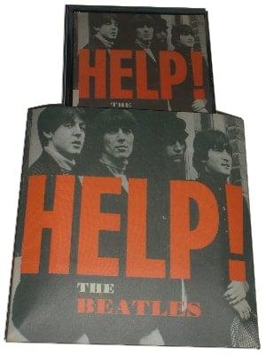 BEATLES-Taschenspiegel SINGLE COVER HELP!
