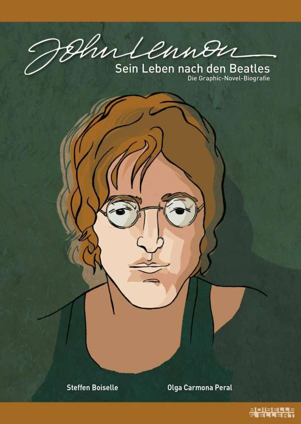 Buch (Comic) & Magnet JOHN LENNON - SEIN LEBEN NACH DEN BEATLES