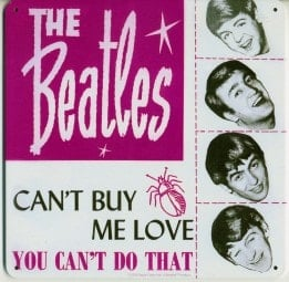BEATLES-Blechschild CAN'T BUY ME LOVE SINGLE COVER USA
