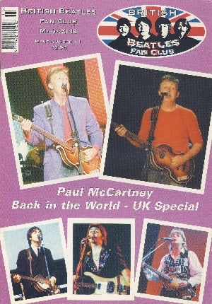 BEATLES-Fanmagazin BRITISH BEATLES FAN CLUB MAGAZINE - ISSUE 11