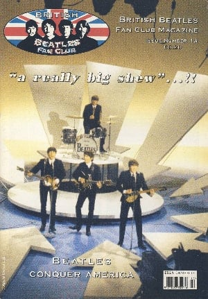 BEATLES-Fanmagazin BRITISH BEATLES FAN CLUB MAGAZINE - ISSUE 13