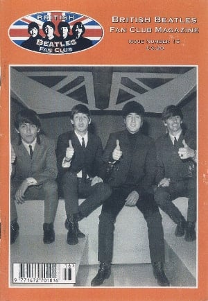 BEATLES-Fanmagazin BRITISH BEATLES FAN CLUB MAGAZINE - ISSUE 16