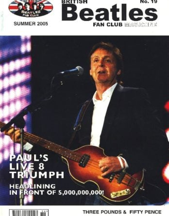 BEATLES-Fanmagazin BRITISH BEATLES FAN CLUB MAGAZINE - ISSUE 19