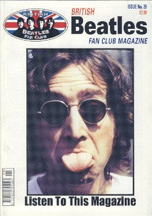 BEATLES-Fanmagazin BRITISH BEATLES FAN CLUB MAGAZINE - ISSUE 29