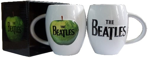 BEATLES-Kaffeebecher  THE LETTERING THE BEATLES BLACK ON WHITE