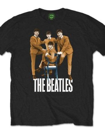 BEATLES-T-Shirt BEATLES CHAIR PHOTO