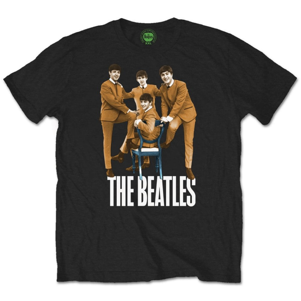 BEATLES-T-Shirt BEATLES CHAIR PHOTO