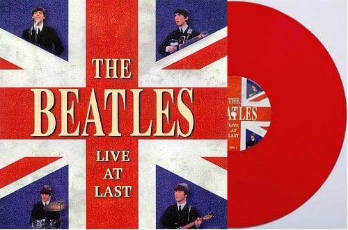BEATLES: Red-Vinyl-LP LIVE AT LAST