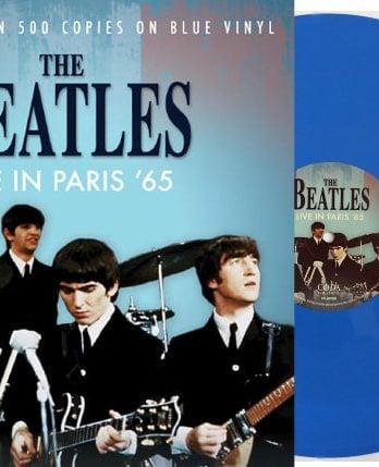 THE BEATLES: Blue-Vinyl-LP LIVE IN PARIS '65