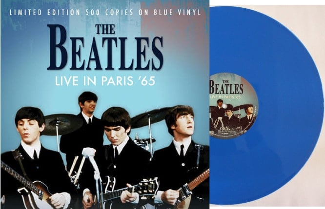 THE BEATLES: Blue-Vinyl-LP LIVE IN PARIS '65