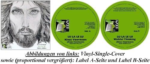 KLAUS VOORMANN/WISHFUL THINKING: Vinyl-Single LU LA LE LU