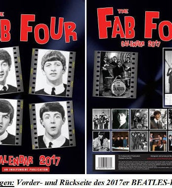 FAB FOUR CALENDAR 2017 von Dream Intern., England