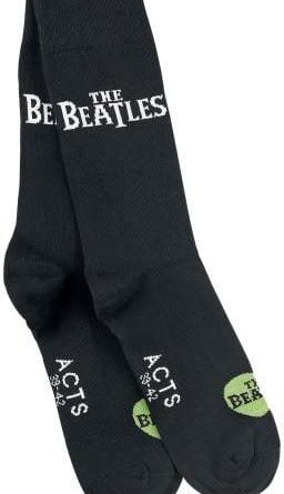 2 Socken-Paare LETTERING THE BEATLES IN WHITE ON BLACK