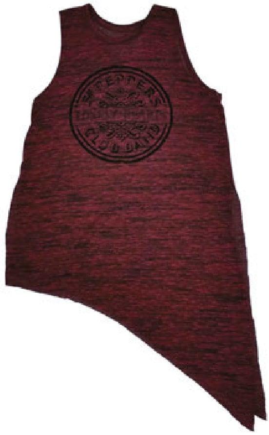 BEATLES Girlie-Shirt SGT. PEPPER BASS DRUM LOGO ON RED