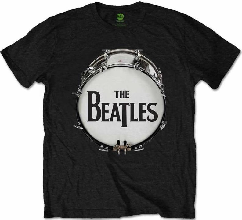 BEATLES T-Shirt BEATLES BASS DRUM - ON BLACK