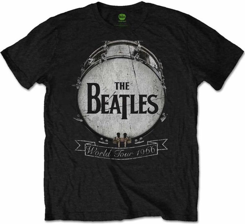 BEATLES T-Shirt BEATLES BASS DRUM WORLD TOUR 1966 - ON BLACK