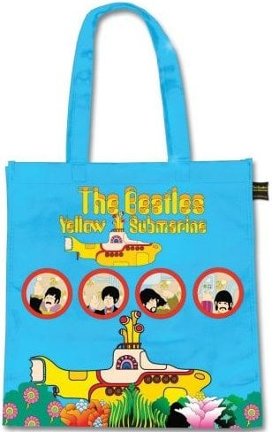 BEATLES-Shopperbag YELLOW SUBMARINE PORTHOLES ON BLUE
