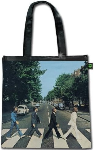 BEATLES-Shopperbag ABBEY ROAD ALBUM COVER ON BLACK