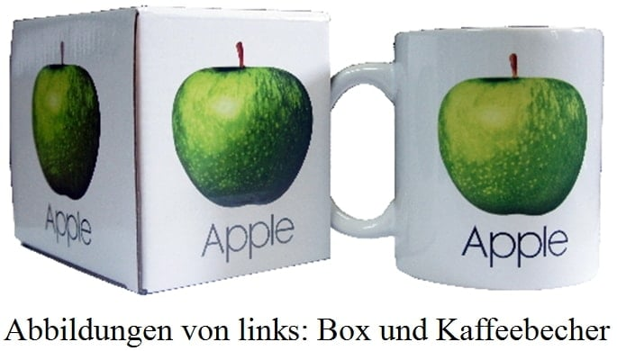 BEATLES-Kaffeebecher APPLE LOGO ON WHITE