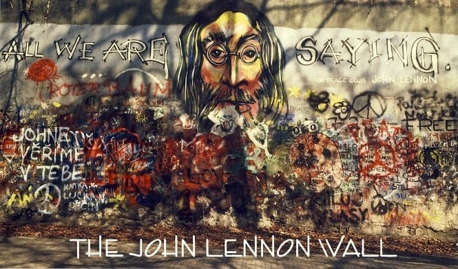 Alu-Dibond (Metalldruck) THE JOHN LENNON WALL