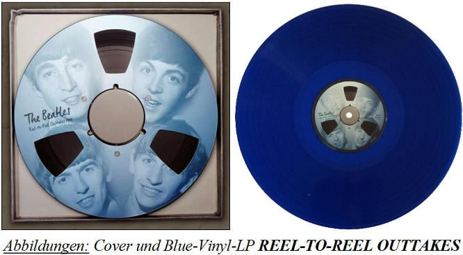THE BEATLES: Blue-Vinyl-LP REEL-TO-REEL OUTTAKES 1963