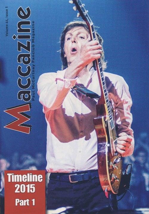 Magazin MACCAZINE - PAUL McCARTNEY TIMELINE 2015 - PART 1