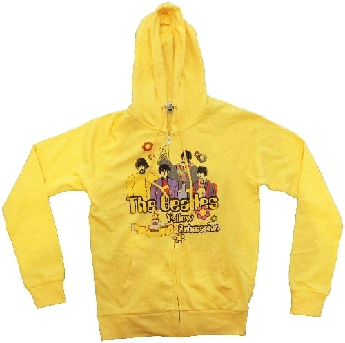BEATLES-Girlie-Hoodie (Jacke mit Kapuze) YELLOW SUBMARINE