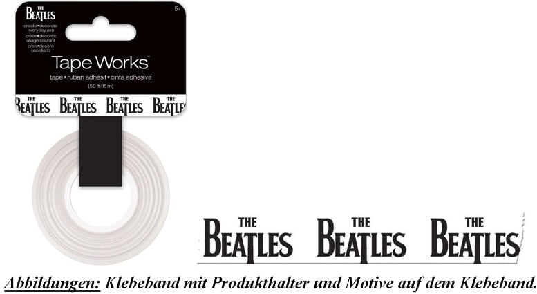 BEATLES-Klebeband LETTERING THE BEATLES BLACK ON WHITE