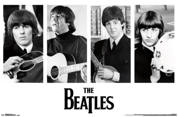 "Poster THE BEATLES PORTRAITS FROM FILM ""HELP!"", 1965"
