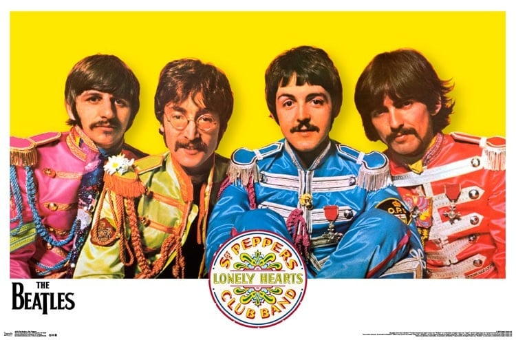 Poster THE BEATLES SGT. PEPPER PHOTO FROM COVER INSIDE, 1967