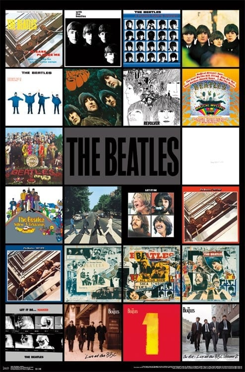Poster THE BEATLES ALBUMS