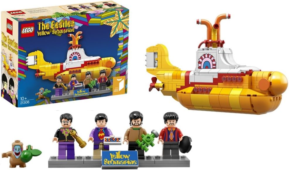 BEATLES- Bausteine LEGO YELLOW SUBMARINE