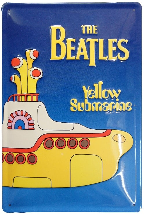 BEATLES-Blechschild YELLOW SUBMARINE SONGTRACK