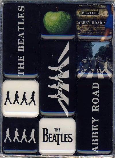 9er BEATLES-Magnetset ABBEY ROAD