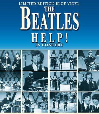 THE BEATLES: Blue-Vinyl-LP HELP! IN CONCERT