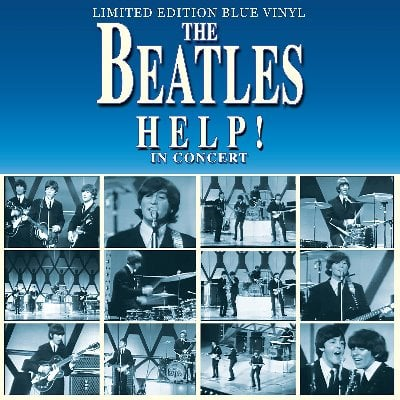 THE BEATLES: Blue-Vinyl-LP HELP! IN CONCERT