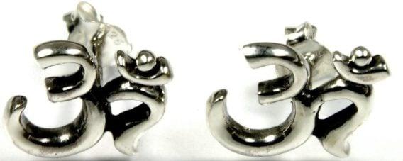 Ohrring-Paar (2) OM (GEORGE HARRISONs DARK HORSE-Logo)