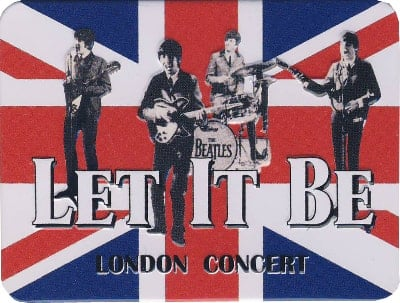 BEATLES-Relief-Magnet LET IT BE - LONDON CONCERT